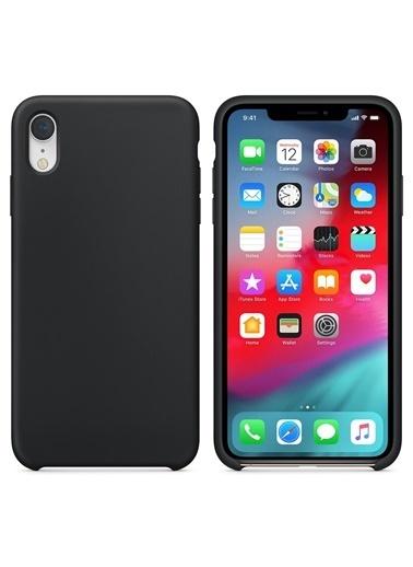Bludfire Apple iPhone XR Kılıf Liquid Lansman Silikon Siyah Siyah